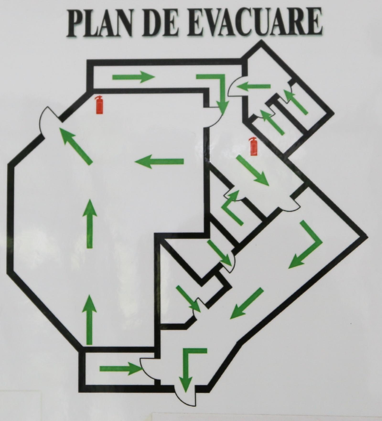 Plan evacuare magazin